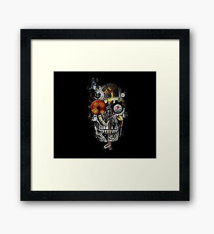 steam powered skull Framed Print