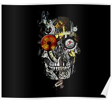 steam powered skull Poster
