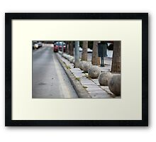 granite balls Framed Print