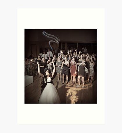 Tossing the bouquet or... Art Print