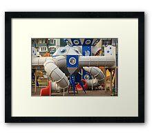 playground spaceport Framed Print