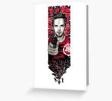 Jesse Pinkman gunshot Greeting Card