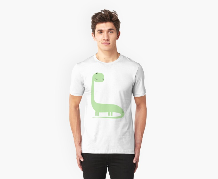 Green Brontosaurus  by Sandhop