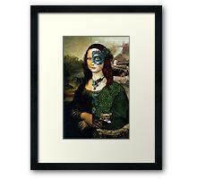 Altered Mona Lisa Framed Print