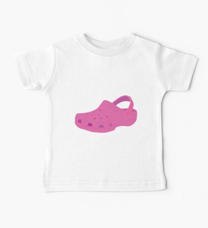 Pink Croc Shoe Baby Tee