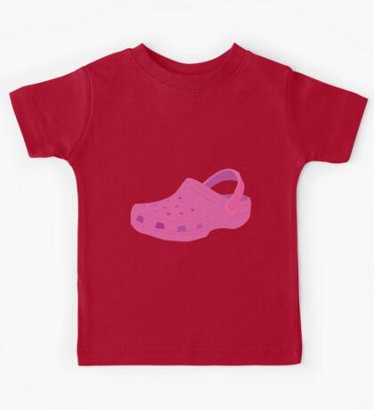Pink Croc Shoe Kids Tee