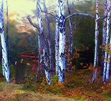 Ghoul in a Halloween Forest by Wayne King