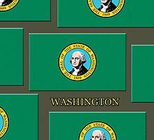 Smartphone Case - State Flag of Washington VI by Mark Podger