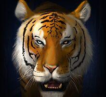 Max Scherzer Tiger, Full by Glenn Martin