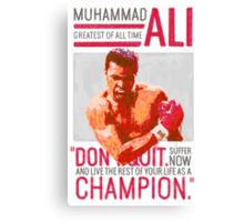 Muhammad Ali - G.O.A.T.  Canvas Print