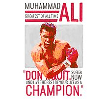Muhammad Ali - G.O.A.T.  Photographic Print