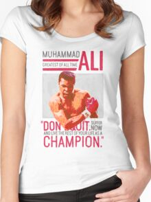 Muhammad Ali - G.O.A.T.  Women's Fitted Scoop T-Shirt