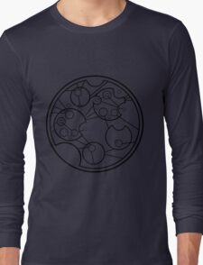 "Circular Gallifreyan, Brian Cox Quote ""I'm not anti-religion, I'm anti-maniac."" Long Sleeve T-Shirt"