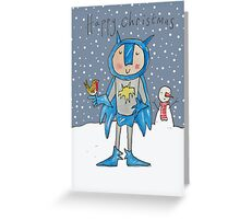 Batman and Robin at Christmas Greeting Card