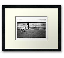 MARNIE ON THE BEACH - NORFOLK 1999 Framed Print