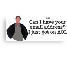 AOL Guy Parks and Recreation Canvas Print
