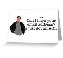 AOL Guy Parks and Recreation Greeting Card