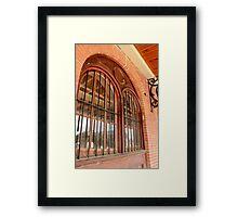 Old Farmers Market Window Framed Print