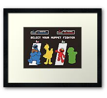 Muppet Fighter Framed Print