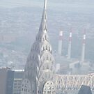 Aerial View of Chrysler Building, As Seen From Empire State Building Observation Deck, New York City by lenspiro