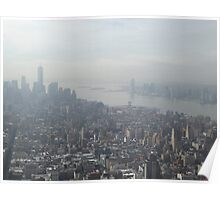 Aerial View of New World Trade Center, Lower Manhattan, Hudson River, As Seen From Empire State Building Observation Deck, New York City Poster