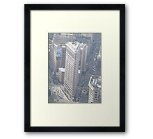 Aerial View of Flatiron Building, As Seen From Empire State Building Observation Deck, New York City City Framed Print