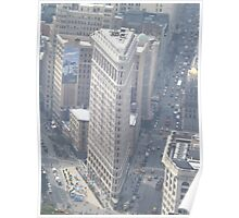 Aerial View of Flatiron Building, As Seen From Empire State Building Observation Deck, New York City City Poster