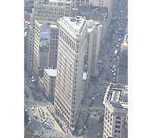 Aerial View of Flatiron Building, As Seen From Empire State Building Observation Deck, New York City City Photographic Print