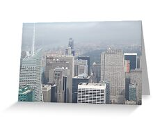 Aerial View of Midtown Manhattan, Times Square, Central Park, As Seen From Empire State Building Observation Deck, New York City Greeting Card