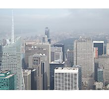 Aerial View of Midtown Manhattan, Times Square, Central Park, As Seen From Empire State Building Observation Deck, New York City Photographic Print