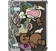 Teddy Bear And Bunny - Lab Experiments iPad Case/Skin