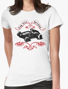 Girls and Boys Speed Shop Tiny Tot's Speedway  Womens Fitted T-Shirt
