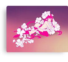 Sakura in Love Canvas Print