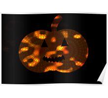 Spooky Spirograph Halloween Pumpkin (in darkness!!)  Poster