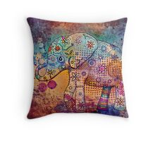 indie elephant Throw Pillow