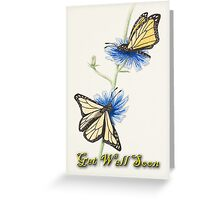 Get Well Soon Butterflies Greeting Card
