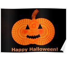 Spooky Spirograph Halloween Pumpkin! (with Text) Poster