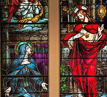St. Margaret Mary Alacoque and Sacred Heart of Jesus by Bonnie T.  Barry