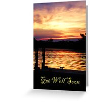 Get Well Soon Boat Dock Greeting Card