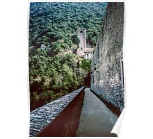 Footpath on aqueduct for Spoleto 19840409 0037m Poster