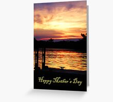 Happy Mother's Day Boat Dock Greeting Card
