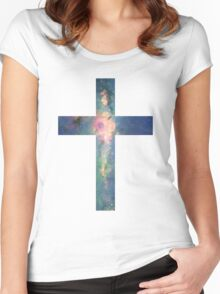 A Cross in the Stars Women's Fitted Scoop T-Shirt
