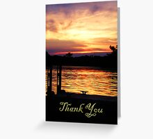 Thank You Boat Dock Greeting Card