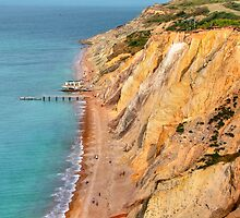 Coloured Sand Cliffs - Alum Bay - I.O.W. by Colin  Williams Photography