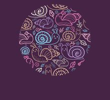 Cute little snails pattern Womens Fitted T-Shirt