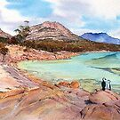 Three Shags on a rock- Honeymoon Bay, Freycinet. by melhillswildart