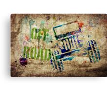 OFF ROAD Grunge Canvas Print