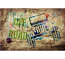 OFF ROAD Grunge Photographic Print