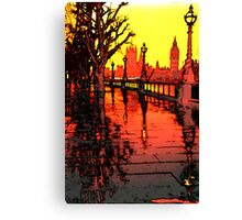 An Evening in London Canvas Print