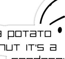 Karl Pilkington Quote (Foodage) Sticker